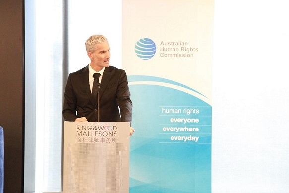 Craig Foster at launch event