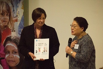 National Children's Commissioner with Mikiko Otani, member of the Committee on the Rights of the Child
